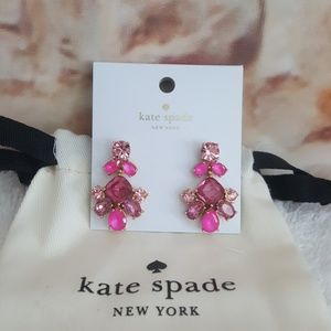 New kate spade Fuchsia Stone Drop Earrings